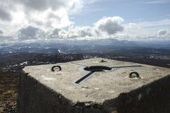 Lochnagar a regardé du sommet désireux de bâti Montagnes de Cairngorm, Aberdeenshire, Ecosse photos stock