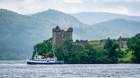 Lochness Urquhart Castle Fort Ruins Scotland UK royalty free stock photography