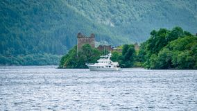 Lochness Urquhart Castle Fort Ruins Scotland UK stock photos
