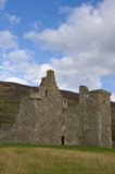 Lochranza Castle. Portrait view of the now ruinous Lochranza Castle, Isle of Arran, Scotland, from the south-west Stock Photos