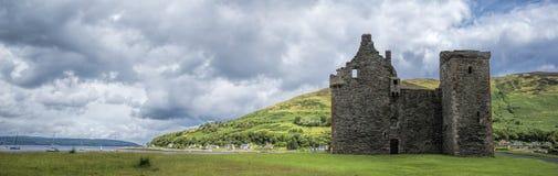 Lochranza Castle Panorama Stock Photos