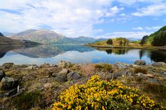Lochs en hooglanden van Schotland Stock Afbeelding