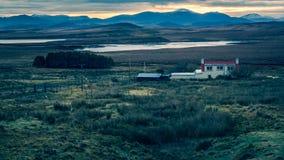 Lochs & pores do sol Hebrides exterior imagem de stock royalty free
