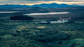 Lochs & Sunsets Outer Hebrides royalty free stock image