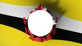 Lochschnitt in der Flagge von Brunei vektor abbildung