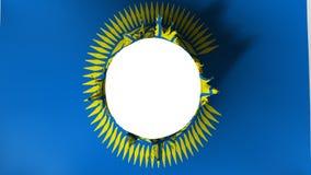Lochschnitt in der Flagge von Commonwealth von Nationen vektor abbildung