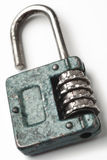 Lock. A combination lock on white Stock Photography