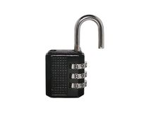 Lock. A black unlock lock with numeric code Royalty Free Stock Images