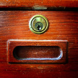 Lock. Take from classic design wardrobe,real wood Stock Image
