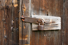 Lock. Old lock on the wooden door royalty free stock photography