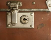 Lock. A lock of antique trunk stock photography