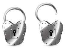 Lock. Of an  figure in two Stock Images