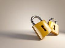 Lock. Two beautiful locks on background Royalty Free Stock Image