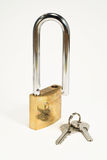 Lock. And keys isolated on white stock illustration