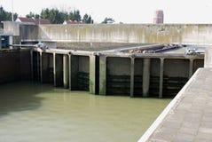 Lock on the Albert canal Stock Photo