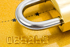 Lock And Credit Card Stock Images
