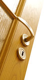 Lock And Door Handle Royalty Free Stock Photo
