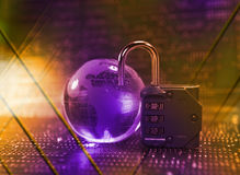 Free Lock And Network Cable Stock Photography - 21563202
