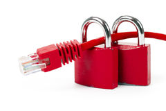 Free Lock And Network Cable Royalty Free Stock Photography - 5379117
