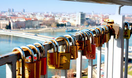 A lock as a symbol of everlasting love Stock Photography