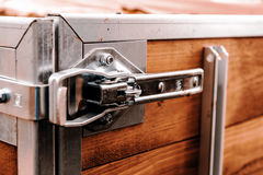 Lock on the back of trailer Stock Photography