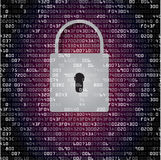 Lock on background with HEX-code Royalty Free Stock Images