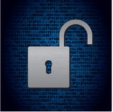Lock on background with HEX-code Royalty Free Stock Photo