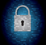 Lock on background with HEX-code Stock Photography
