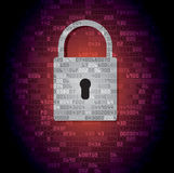 Lock on background with HEX-code Stock Photo