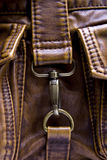 Lock bag. Closed lock on  leather bag Stock Photography