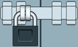 Lock and bar Stock Image