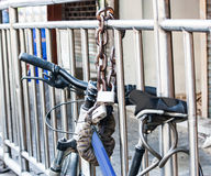 Lock bicycle Royalty Free Stock Photo