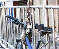 Lock bicycle Royalty Free Stock Photo