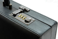 Lock of black suitcase Stock Images