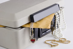 Lock Box with Items Stock Image