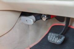 Lock brake pedal of the car Stock Photos