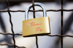 Lock on the bridge Royalty Free Stock Photos