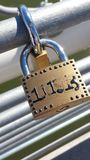 Lock bridge. Locks on a bridges Royalty Free Stock Images