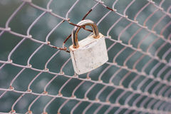 Lock on the bridge Stock Photography