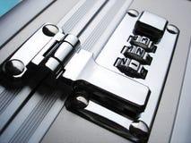 Lock on briefcase Stock Photos