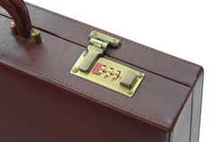 Lock of brown suitcase Royalty Free Stock Image