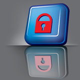 Lock button Royalty Free Stock Photo