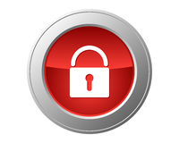 Lock button Royalty Free Stock Image