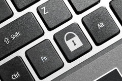 Lock button. On the keyboard Stock Photo