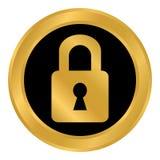 Lock button on white. Royalty Free Stock Image