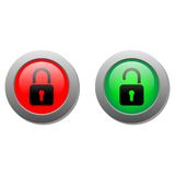 Lock buttons Royalty Free Stock Photography