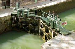 Lock Canal Saint Martin (Paris) Stock Photos