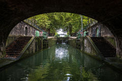Lock on the canal of Saint Martin, Paris (France) Royalty Free Stock Photos