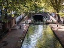 Lock on Canal Saint Martin, Paris Stock Photography