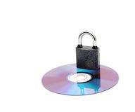 Lock on a cd Royalty Free Stock Photo